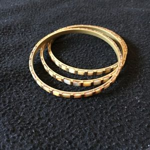 Jewelry - 3 for $25 Copper and Ivory Bangle Bracelets
